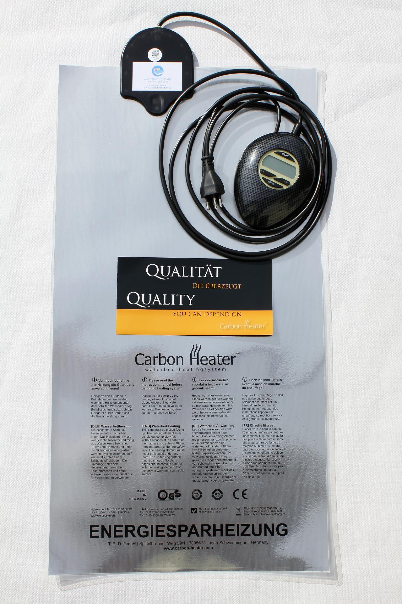 Verführerisch Wasserbettbedarf Referenz Von Carbon Heater Iq Digital 320w (wärmesystem)