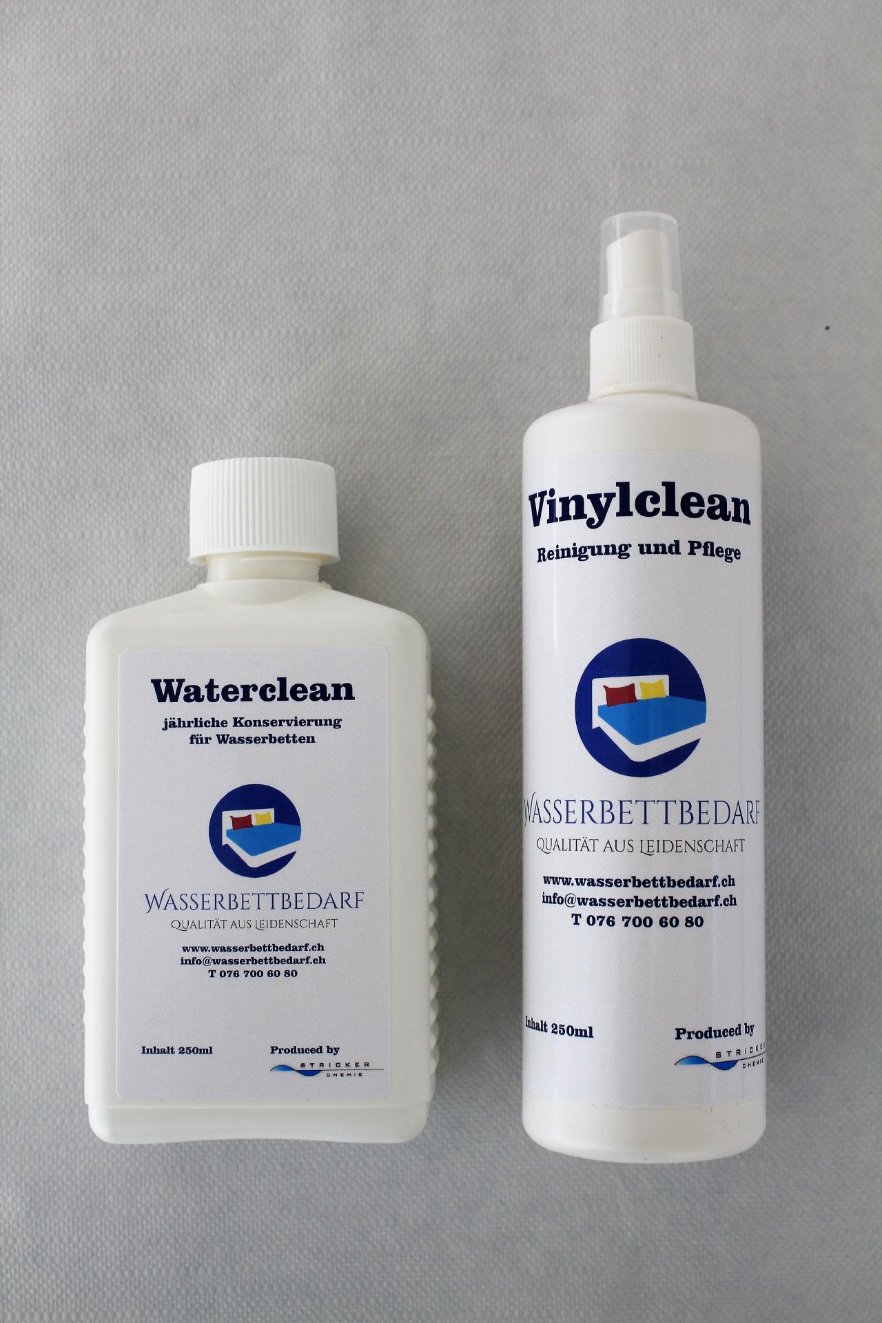 Verzauberkunst Wasserbettbedarf Referenz Von 1 Waterclean + 1 Vinylclean Pumpzerstäuber