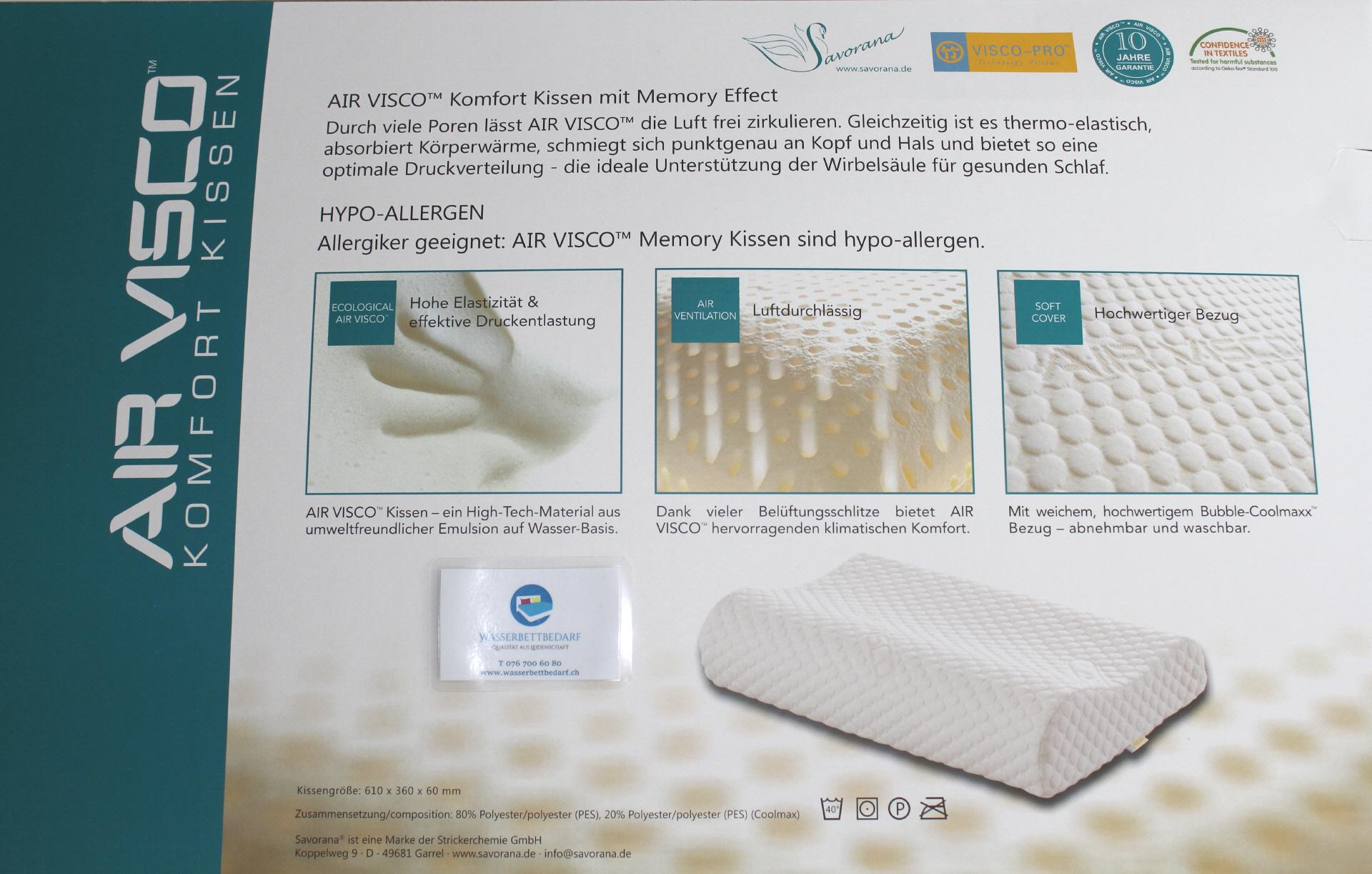 Fesselnde Wasserbettbedarf Beste Wahl Air Visco Kissen Das Thermo-elastische Material Des